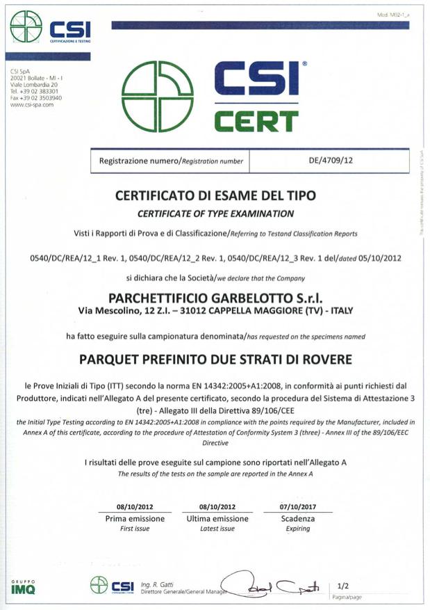 CSI Cert - Rovere