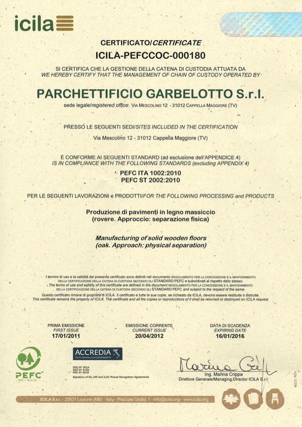 PEFC Garbelotto