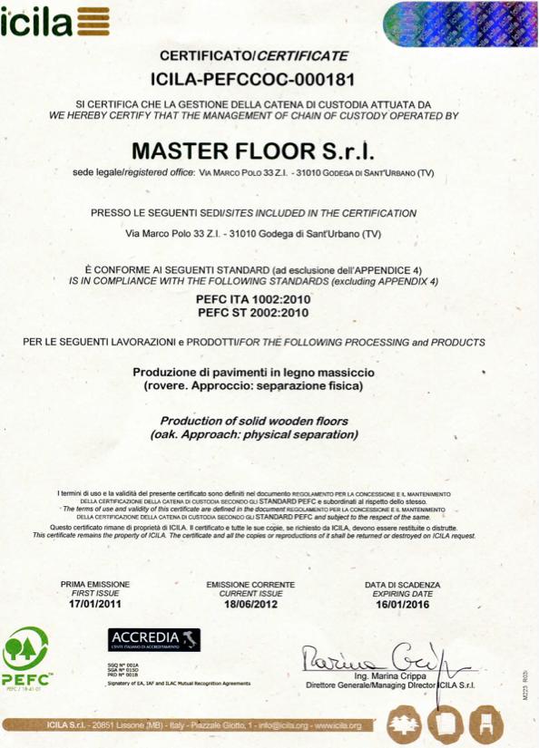 PEFC Master Floor