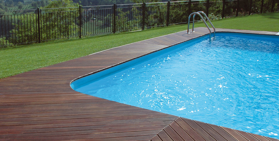 Flooring for outdoor decking in Massaranduba